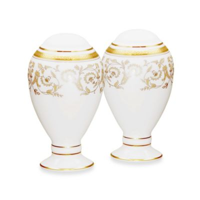 Noritake Summit Gold 3.75-Inch Salt & Pepper Shaker Set