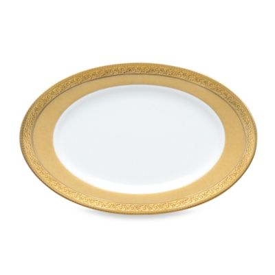 Gold White Butter Dish