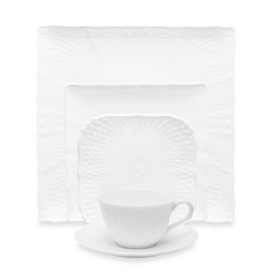 Noritake® Cher Blanc 5-Piece Square Place Setting
