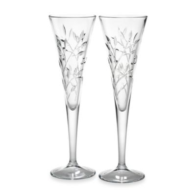 Reed & Barton® Shimmer Crystal Toasting Flutes (Set of 2)