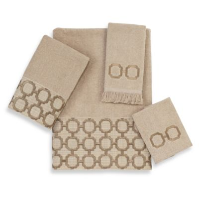 Avanti Catena Bath Hand Towel in Linen