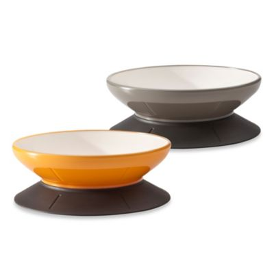 4-Cup Dog and Cat Pet Bowl in Mango Tango