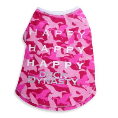 Duck Dynasty® Short Sleeve Happy Pet T-Shirts in Camo Pink