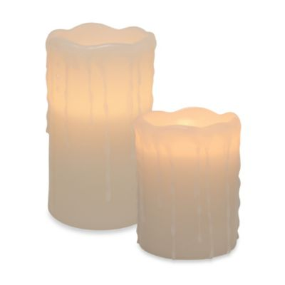 Heavy Drip LED Pillar Flameless Candle