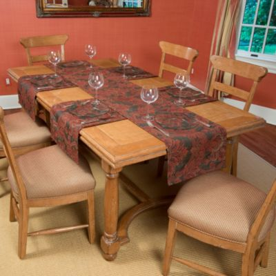Tablemattes™ Empire 5-Piece Large Runner Mat Set in Persimmon