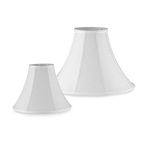 bell shaped lamp shade in ivory a traditional bell shaped lamp shade. Black Bedroom Furniture Sets. Home Design Ideas