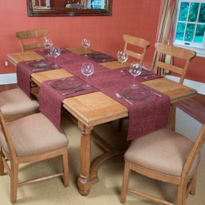 Tablemattes™ Preston 5-Piece Large Runner Mat Set in Burgundy