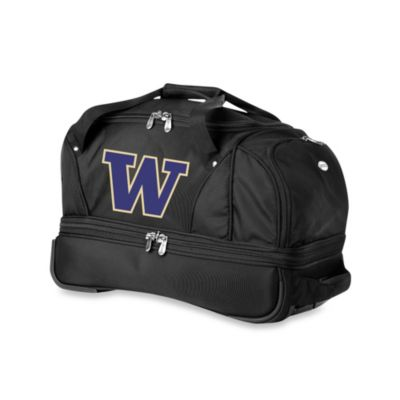 University of Washington Huskies 22-Inch Drop Bottom Wheeled Duffel Bag