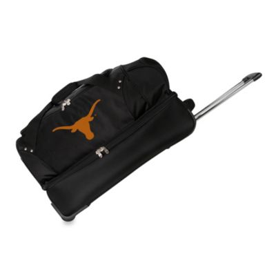 University of Texas Longhorns 27-Inch Drop Bottom Rolling Duffel Bag