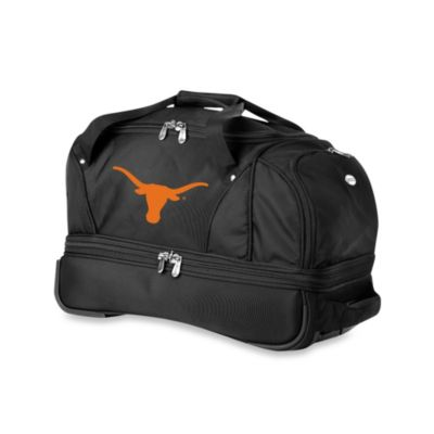University of Texas Longhorns 22-Inch Drop Bottom Wheeled Duffel Bag