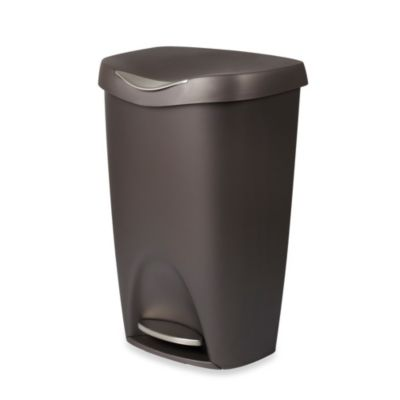 Umbra Brim 13-Gallon Step Waste Can in Champagne