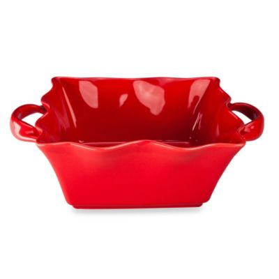 BIA Cordon Bleu Wavy 9.75-Inch Square Baking Dish in Red