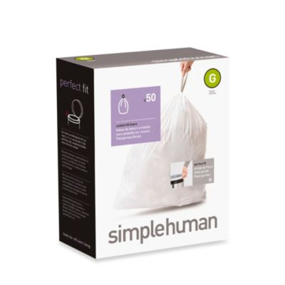 simplehuman® 50-Pack Code G Custom Fit 30-Liter Can Liners