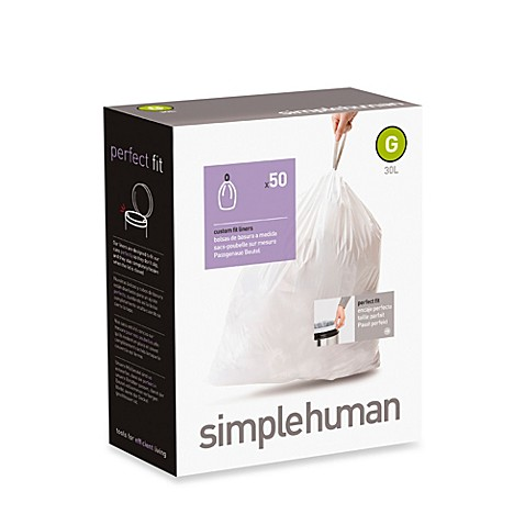simplehuman® Code G 50-Pack 8-Gallon Custom Fit Liners