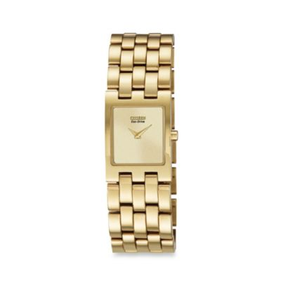 Citizen Ladies' Eco-Drive Gold-Tone Stainless Steel Jolie Watch