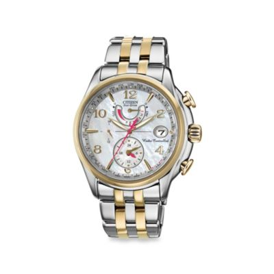 Citizen Ladies' Eco-Drive World Two-Tone, Stainless Steel Time A - T Watch