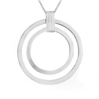 Sterling Silver Double Open Circle Necklace