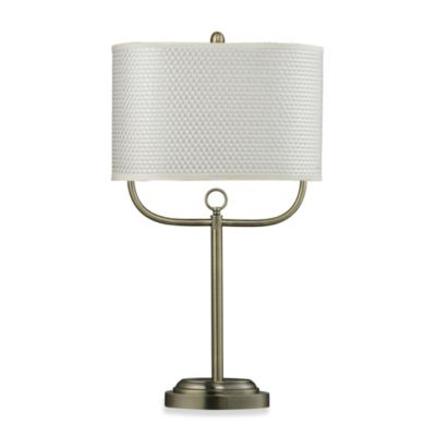 HGTV Home 1-Light Table Lamp in Antique Brass
