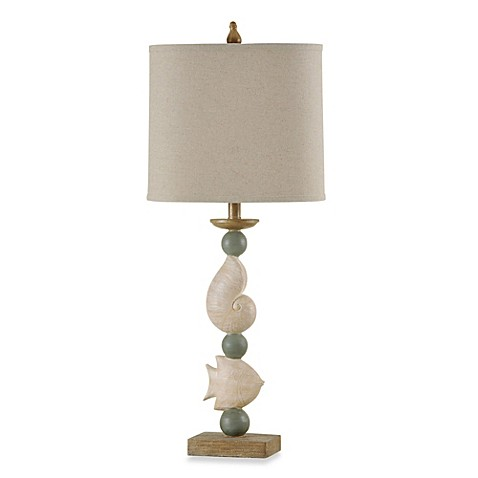 buy tropical coastal sandstone antique blue table lamp from bed bath. Black Bedroom Furniture Sets. Home Design Ideas