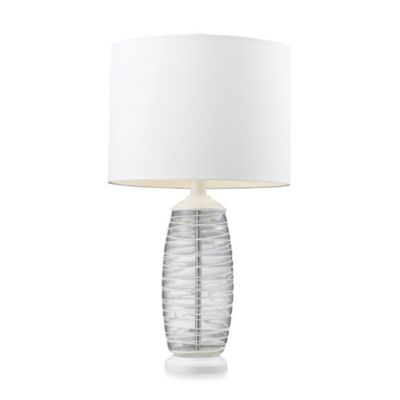 Clear and White Table Lamp