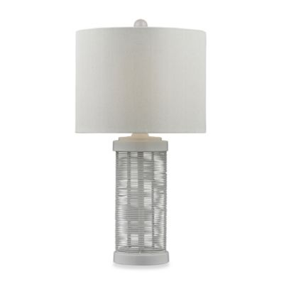 HGTV HOME Graphic Control Metal Wire Table Lamp