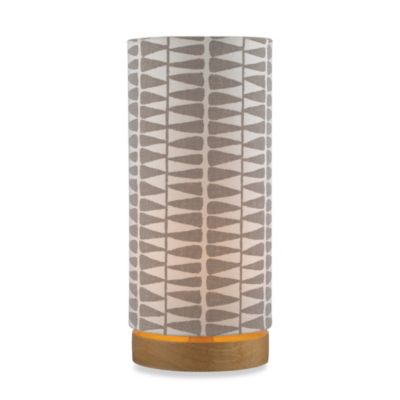 HGTV HOME Cameron Light Stain Table Lamp