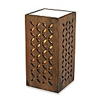 HGTV HOME Wooden Up Light 1-Light Dark Stained Table Lamp