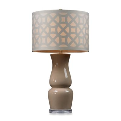 Brown Taupe Table Lamp