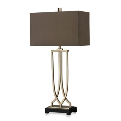 HGTV HOME Antique Silver Leaf Table Lamp