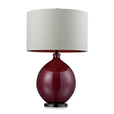 Table Lamp in Pink and Black Nickel