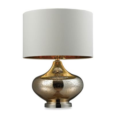 HGTV HOME Gold Mercury Glass Table Lamp