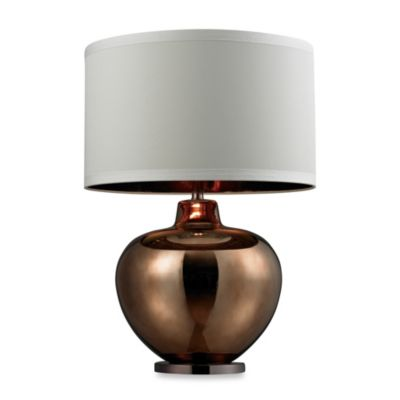 Bronze Plated Glass Table Lamp