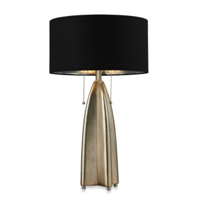 HGTV HOME Gold Leaf Antique Table Lamp