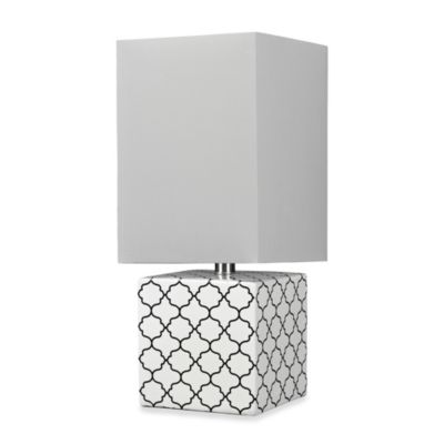 HGTV Home Light Table Lamp in Gloss White/Black