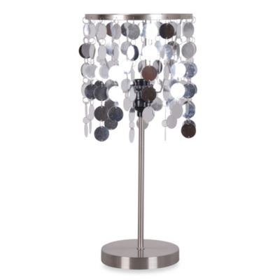 Glam Stick Lamp with Decorative Ring Shade