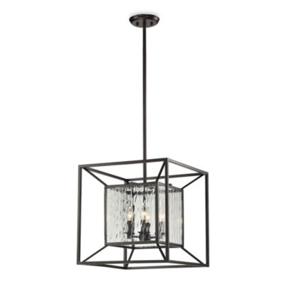 HGTV Home 4-Light Pendant Lamp in Oiled Bronze