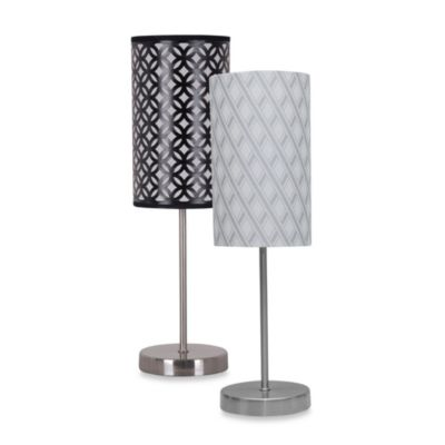 Glam Stick Lamp with Shade