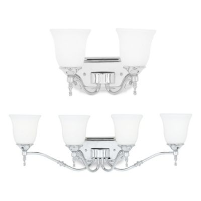 Quoizel Tritan Bathroom Light Fixture in Polished Chrome