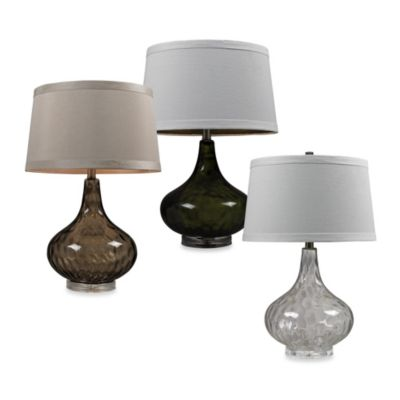 HGTV HOME Smoked and Clear Table Lamp