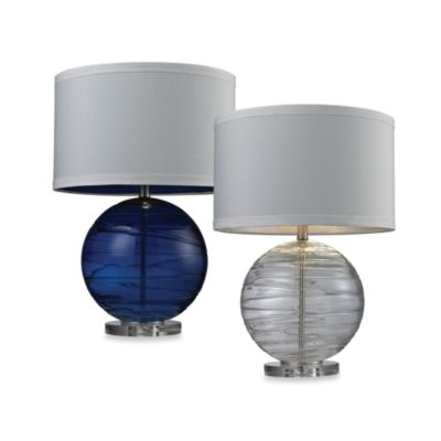 Table Lamp in Sapphire Blue