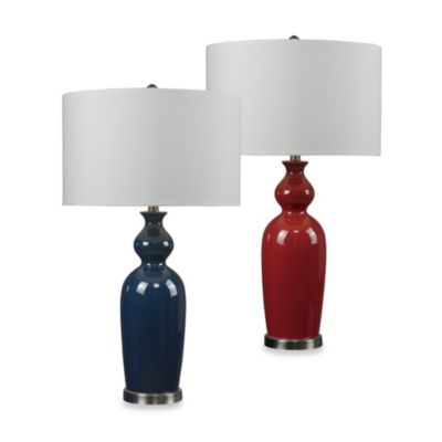 HGTV HOME Brushed Steel Table Lamp