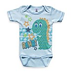 Clever Birds® Blue Dino Patchwork Bodysuit