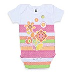 Clever Birds® Flower Retro Stripes Bodysuit