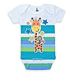 Clever Birds® Giraffe Retro Stripes Bodysuit
