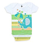 Clever Birds® Elephant Retro Stripes Bodysuit