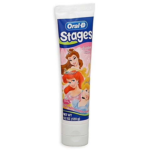 Buy oral b stages princess 4 2 oz toothpaste in bubble gum flavor from bed bath beyond - Keep toothpaste kitchen ...