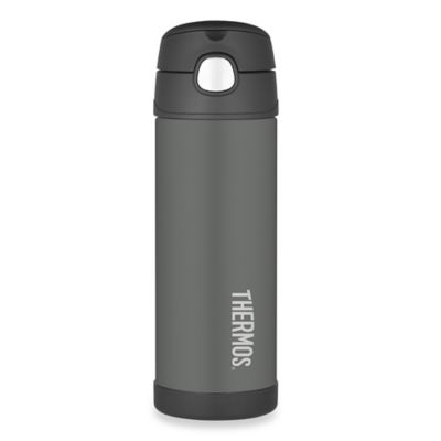 Thermos® 16 oz. Stainless Steel Straw Bottle in Charcoal Grey