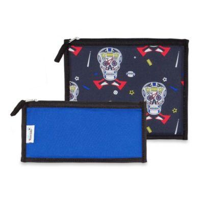BlueAvocado® Fresh Zip 2-Piece Kit in Blue Skulls