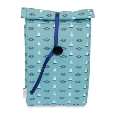BlueAvocado® (eco) Button Bag in Green Nautical