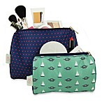 BlueAvocado® (eco) Designed by Lauren Conrad 2-Piece Pouch Kit in Red Microdot/Green Nautical